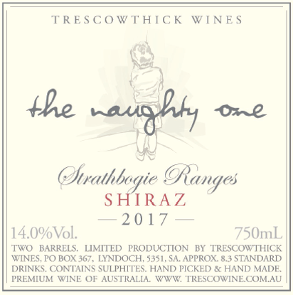Picture of 2017 Strathbogie Ranges Shiraz The Naughty One